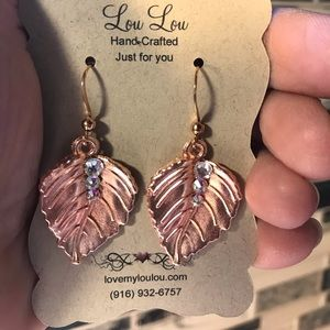 Hand-Crafted Swarovski Rose Gold Earrings